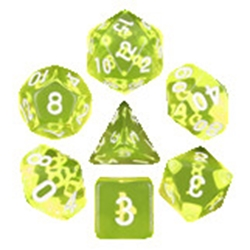 Picture of Sun Gems Yellow Dice Set