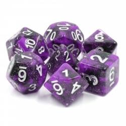 Picture of Black Unicorn Purple and Black Dice Set