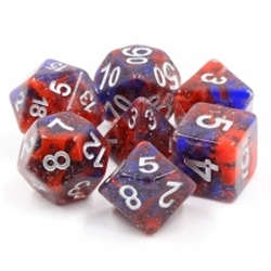 Picture of Fire and Ice Red and Blue Dice Set