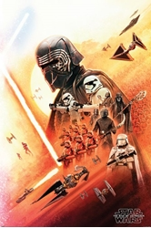 """Picture of Star Wars Rise of Skywalker Kylo Ren 24"""" x 36"""" Poster"""