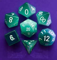Picture of Cat's Eye Mint Green Gemstone 16mm Dice Set