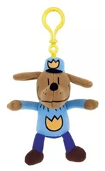 "Picture of Dog Man 5.5"" Plush Backpack Pull"
