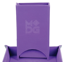 Picture of Fold Up Velvet Purple Dice Tower