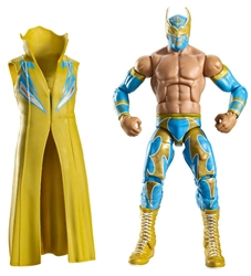 Picture of WWE Elite Collection Series 15 Sin Cara Action Figure [Yellow Entrance Cloak]