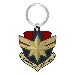 Picture of Captain Marvel Logo Soft Touch PVC Key Ring