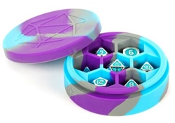 Picture of Silicone Purple/Grey/Light Blue Round Dice Case