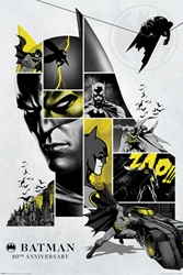 "Picture of Batman 80th Anniversary 24"" x 36"" Poster"