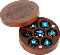 Picture of Purple Heart Wood Round Dice Case