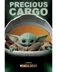 "Picture of Star Wars Mandalorian Baby Yoda Precious Cargo 24"" x 36"" Poster"