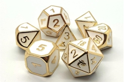 Picture of Elven Forged White with Gold 7-Dice Set