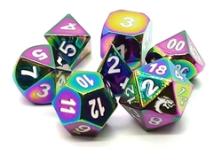 Picture of Halfling Forged Brilliant Rainbow 7-Dice Set