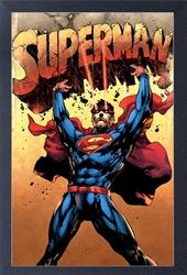 Picture of Superman Boulder Lift Framed Print