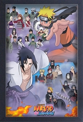 Picture of Naruto Shippuden Cast Framed Print