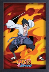 Picture of Naruto Shippuden Sasuke Fire Framed Print