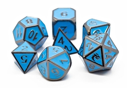 Picture of Elven Forged Teal with Black Nickel 7-Dice Set