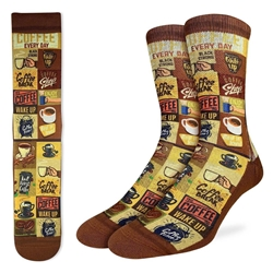 Picture of Men's Coffee Time Socks Size 8-13