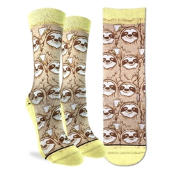 Picture of Women's Coffee Sloth Socks Size 5-9