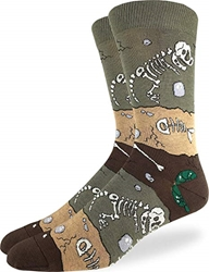 Picture of Men's Dinosaur Fossil Layers Socks Size 7-12