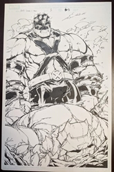 Picture of Patrick Sherberger World War Hulks Spider-Man vs Thor Splash Page Original Art