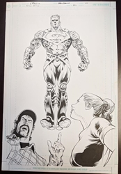 Picture of Luke Ross Action #821 Original Splash Page Art