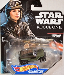 Picture of Hot Wheels jyn Erso Star Wars character car
