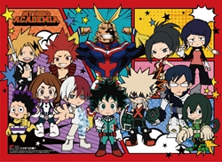 Picture of My Hero Academia SD Character Group Wall Scroll