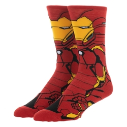 Picture of Iron Man Character 360 Crew Sock