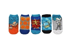 Picture of Dragon Ball Super Kids 5 Pair Pack Lowcut Socks