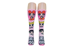 Picture of Powerpuff Girls Girls Rock 360 Crew Socks