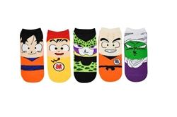 Picture of Dragon Ball Z Chibi Bean 5 Pair Pack Lowcut Socks - Goku, Gohan, Cell, Krillin, Piccolo Apparel