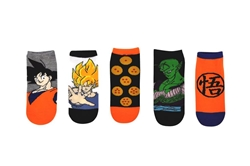 Picture of Dragon Ball Z Essentials 5 Pair Pack Lowcut Socks