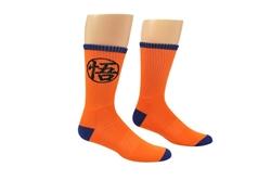 Picture of Dragon Ball Super Goku Symbol Athletic Crew Socks