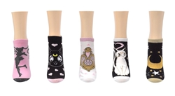 Picture of Sailor Moon Lurex 5 Pair Pack Lowcut Socks