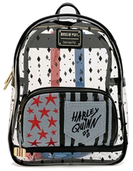 Picture of Harley Queen Birds of Prey Clear Mini Backpack