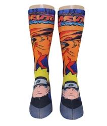Picture of Naruto Shippuden Kyuubi 360 Print Crew Socks