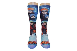 Picture of Naruto Shippuden Character 360 Print Crew Socks