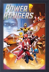 Picture of Power Rangers Group Pose Framed Print