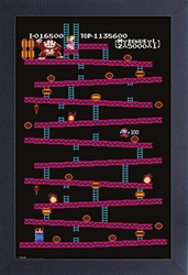 Picture of Donkey Kong Level 1 Framed Print