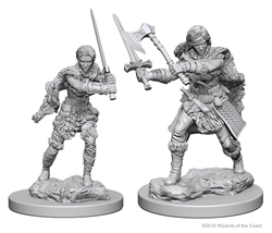 Picture of Dungeons and Dragons Nolzur's Marvellous Unpainted Human Female Barbarian Miniatures