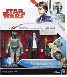 Picture of Star Wars Force Link Han Solo Boba Fett Action Figures