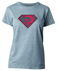 Picture of Superman Red Sun Symbol Women's Tee SMALL