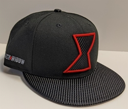 Picture of Black Widow Carbon Bill Logo 950 Snap Back Hat