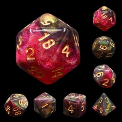 Picture of Midnight Rose Dice Set