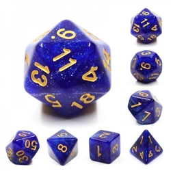 Picture of Blue Galaxy Dice Set