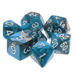 Picture of Blue Steel Blue & Gray Swirl Dice Set
