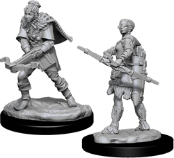 Picture of Dungeons and Dragons Nolzur's Marvelous Human Female Ranger Unpainted Miniatures