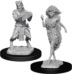 Picture of Dungeons and Dragons Nolzur's Marvelous Satyr and Dryad Unpainted Miniatures