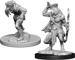 Picture of Dungeons and Dragons Nolzur's Marvelous Wererat and Weretiger Unpainted Miniatures
