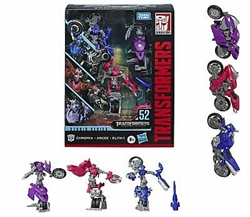 Picture of Transformers Studio Series Deluxe Chromia Arcee and Elita-1 Figure