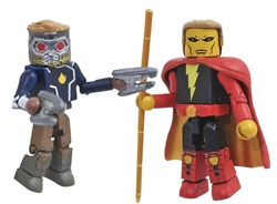 Picture of Marvel Minimates Series 79 Star-Lord and Adam Warlock Figure
